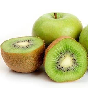 manzana verde y kiwi