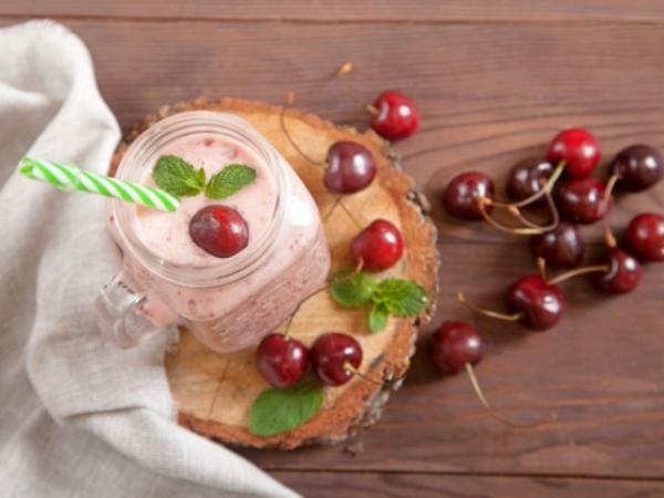 Batido de Cerezas con Yogur, cremoso y saludable