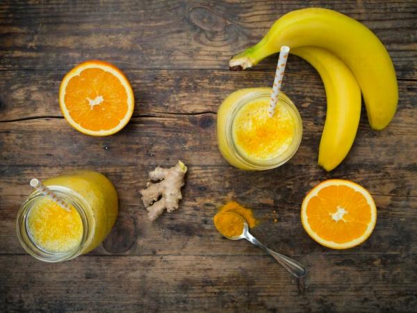 Batido de Jengibre, plátano y cúrcuma 2