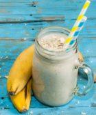 Batido o Licuado de Plátano y Avena