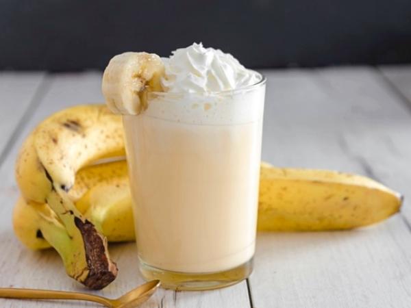 Batido de Plátano y Helado de Vainilla
