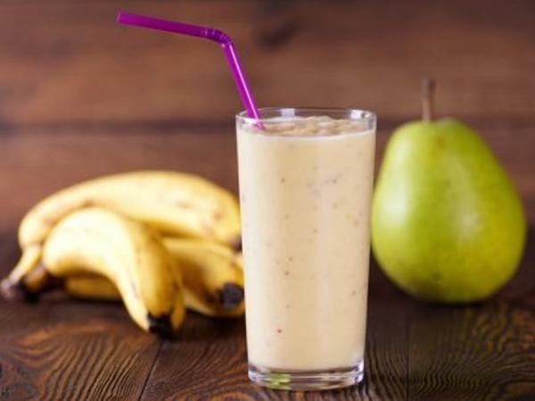 Batido o Licuado de Pera y Plátano