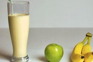 batido de platano y manzana