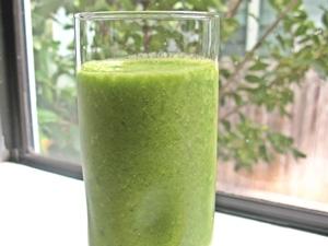 batido de manzana verde (con piel)