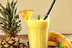 batido de plátano y piña