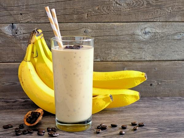 Batido de Café y Plátano 1Batido de Café y Plátano
