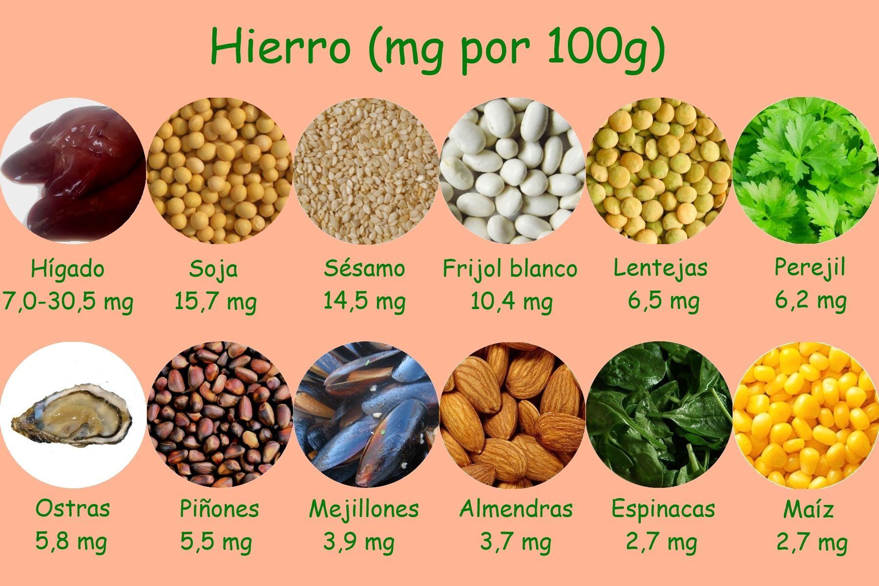 alimentos ricos en hierro 2