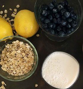 Batido de avena y limón para perder peso