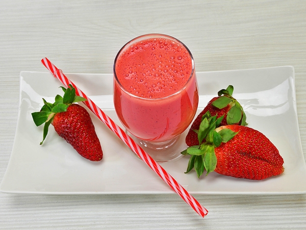 smoothie de fresa Thermomix ligh