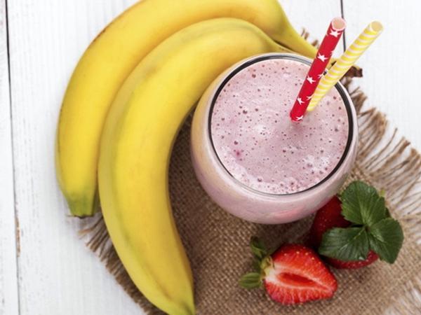 Batido fresa y plátano