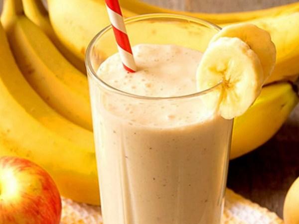 Batido Licuado de Manzana y Plátano