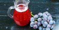 jugo o zumo de uva