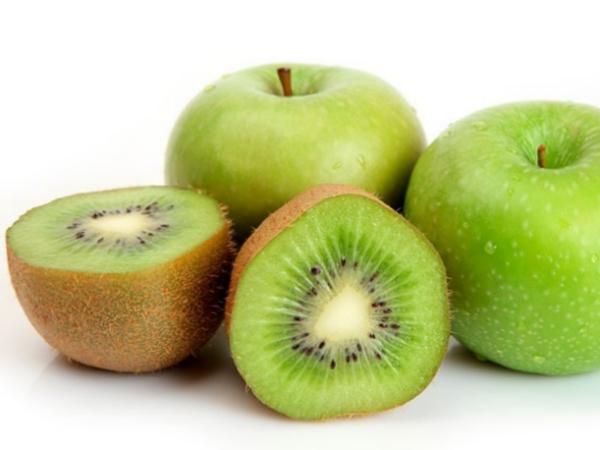 kiwi y manzana