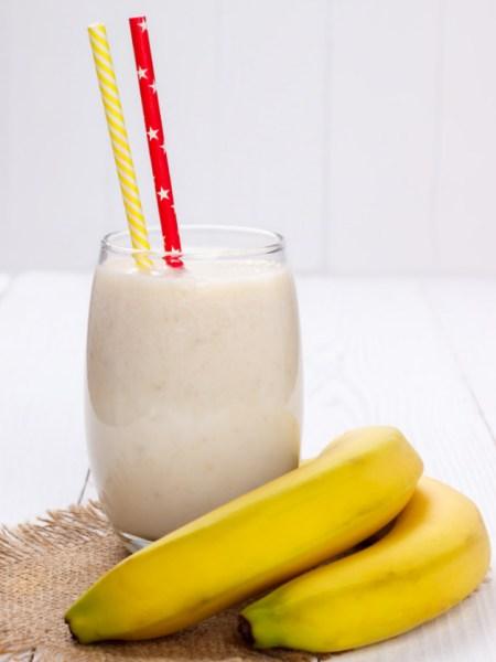 Smoothie de Plátano Light sin azúcar para dietas