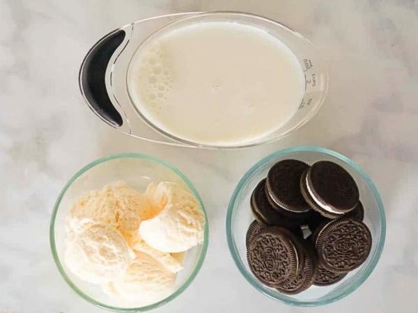 ingredientes batido de Oreo
