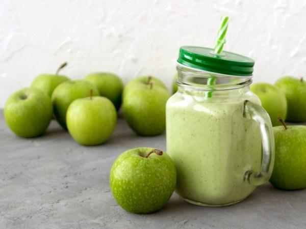 smoothie de manzana verde