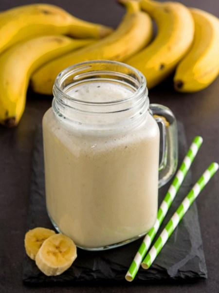 smoothie de plátano con leche