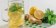Agua de Jengibre Fresca con limón