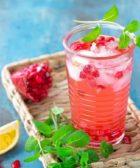 Agua de Granada con Limón