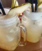 agua de pera con limon