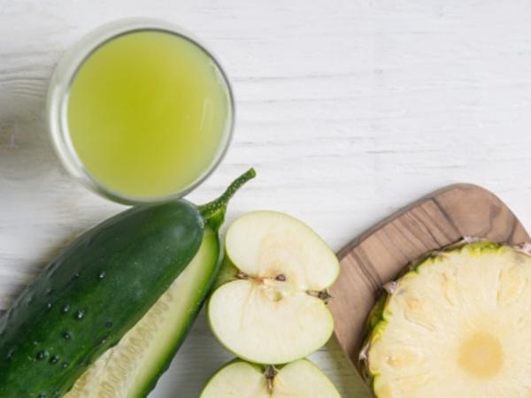 zumo de piña pepino para adelgazar