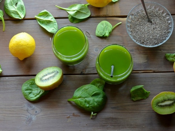 Batido Verde de Frutas y Verduras Light pero lleno de Propiedades