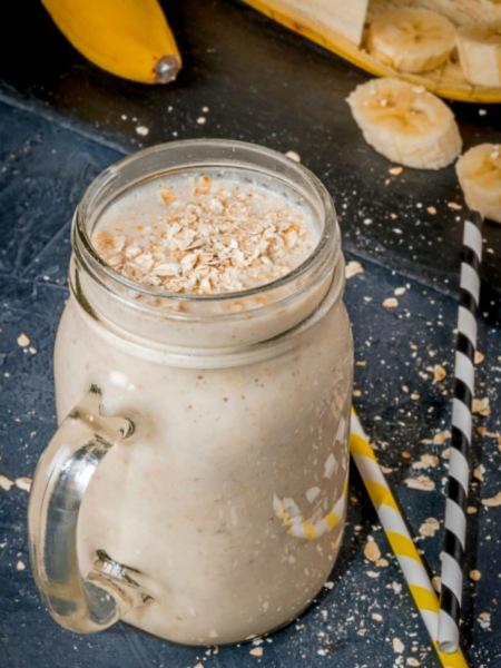 Batido o Licuado de Avena y Plátano, una mezcla perfecta