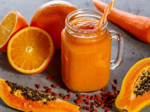 Batido o Licuado de Papaya y Naranja