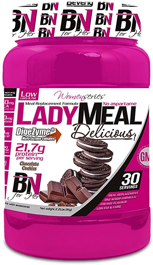 Beverly Nutrition Lady Meal Delicious Proteína Concentrada Mujer Sabor Choco Cookies - 1000 gr