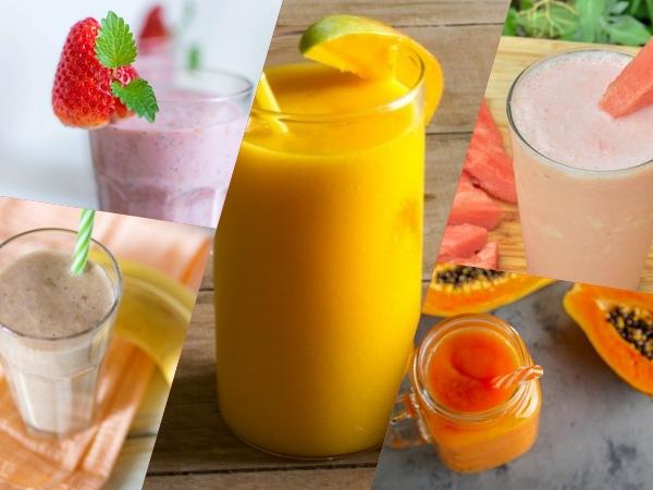 Batidos o licuados saludables de frutas para desayunar