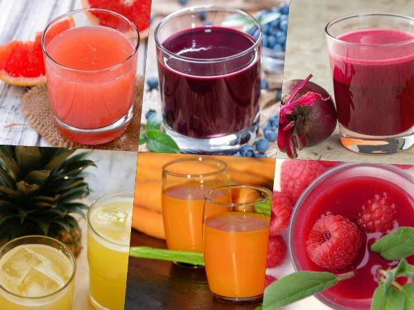 5+1 Jugos o Zumos Desintoxicantes (No verdes) de Frutas y Verduras