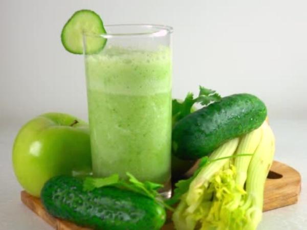 Jugo 1: super potente jugo verde de verdura y fruta rico y saludable