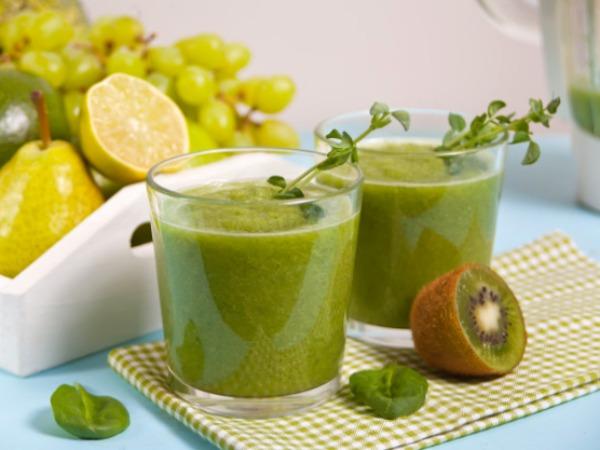 Smoothie de detox de fruta con Pera, Kiwi y Limón