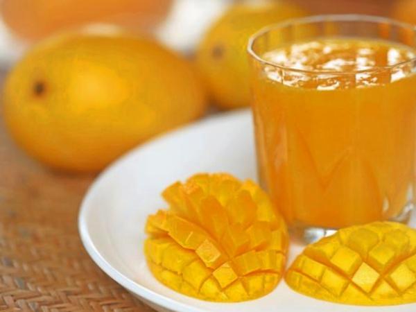 Zumo o Jugo de Naranja con Mango