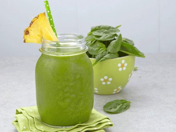 Jugo Verde con Piña, delicioso y saludable