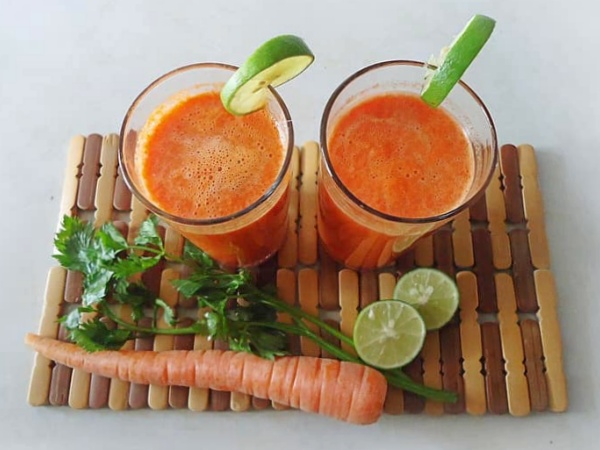 Zumo de zanahoria y perejil